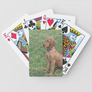 Baralho Para Pôquer Filhote de cachorro de Vizsla - cartões de jogo da