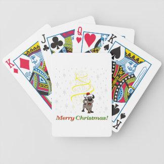 Baralho Para Pôquer Filhotes de cachorro do Natal