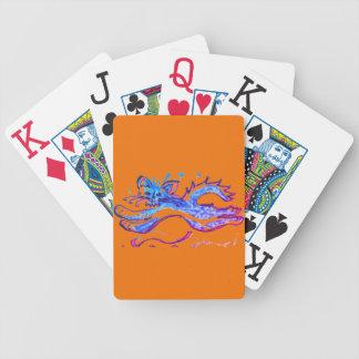 Baralho Para Pôquer Gato da água do divertimento que pula cartões de