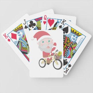 Baralho Para Pôquer homem da neve da rena do Natal de Papai Noel