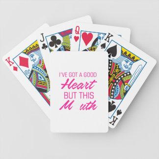 Baralho Para Pôquer I've obteve um bom coração mas esta boca