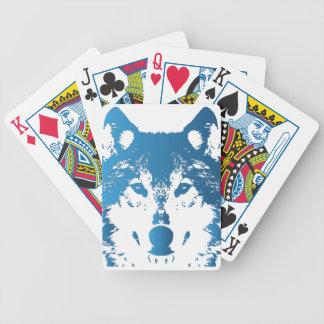 Baralho Para Pôquer Lobo do azul de gelo da ilustração