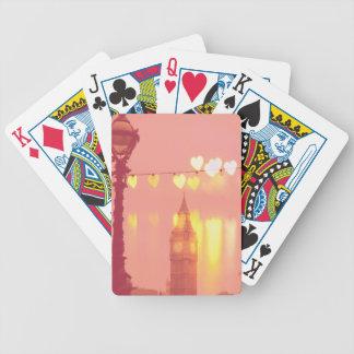 Baralho Para Pôquer Londres | Big Ben Nightime filtrado fotografia