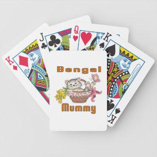 Baralho Para Pôquer Mamã do gato de Bengal