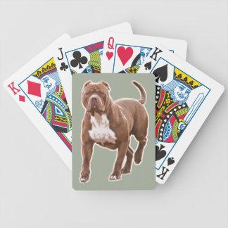 Baralho Para Pôquer Marrom do pitbull
