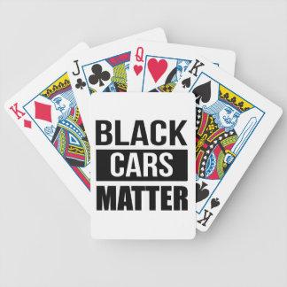 Baralho Para Pôquer Matéria preta dos carros - humor engraçado da