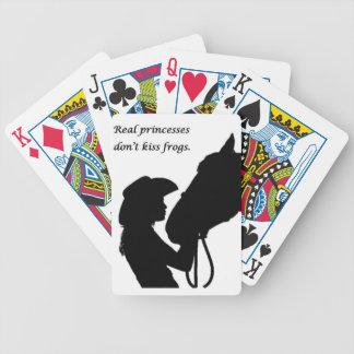 Baralho Para Pôquer Menina que beija o cavalo