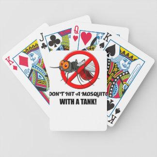 Baralho Para Pôquer o mosquito não o bate com um tanque