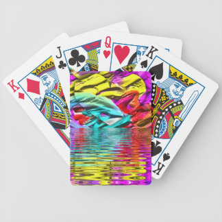 Baralho Para Pôquer Ondinhas florescentes legal da água do abstrato do