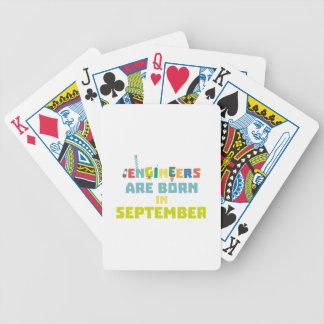 Baralho Para Pôquer Os engenheiros são em setembro Z0ow6 nascidos
