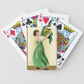 Baralho Para Pôquer Poster original da senhora da bandeira do Dia de