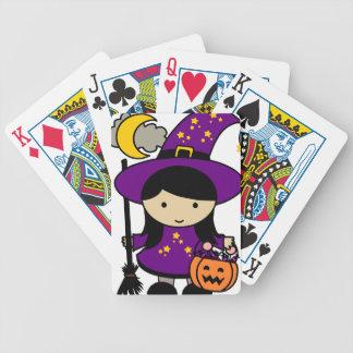 Baralho Para Pôquer Pouca bruxa do Dia das Bruxas