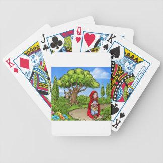 Baralho Para Pôquer Pouca cena dos desenhos animados da capa de