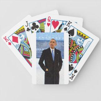 Baralho Para Pôquer Retrato abstrato do presidente Barack Obama 10