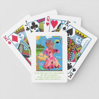 """Baralho Para Pôquer """"Seja espírito livre!"""" Cartões de jogo"""