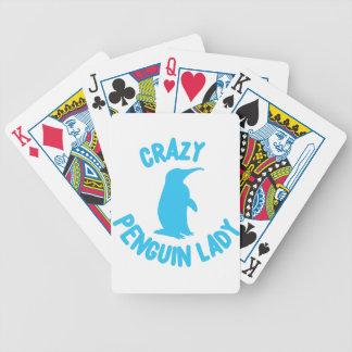 Baralho Para Pôquer senhora louca do pinguim