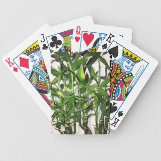 Baralho Para Pôquer Tiros de bambu e folhas verdes