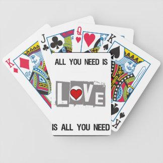 Baralho Para Pôquer Tudo que você precisa é amor é tudo você precisa