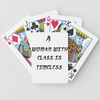 Baralho Para Pôquer uma mulher com classe é intemporal