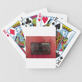 Baralho Para Pôquer Vermelho do vintage da música da cassete de banda