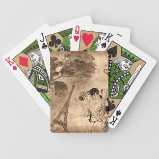 Baralho Para Pôquer Vintage romântico de Paris