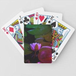 Baralho Para Pôquer Waterlily cor-de-rosa Lotus, cartões de jogo