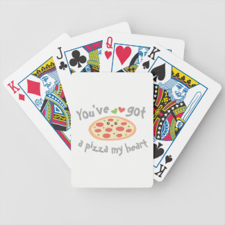 Baralho Para Pôquer You've obteve a uma pizza meu coração chalaça