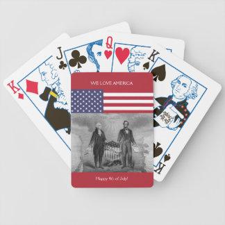 Baralho Para Truco Bandeira americana E.U. de George Washington