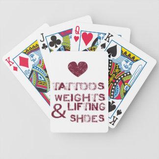 Baralho Para Truco calçados dos pesos dos tatuagens fêmeas