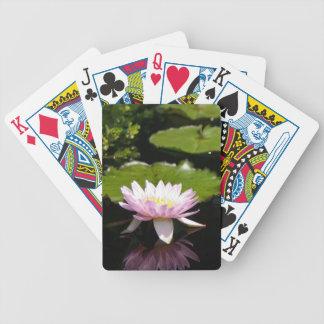 Baralho Para Truco Cartões de jogo cor-de-rosa de Waterlily Lotus