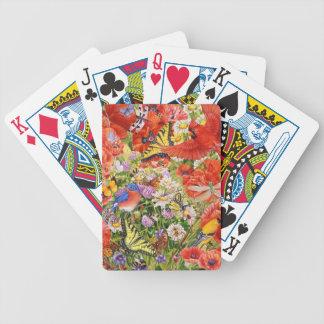 Baralho Para Truco Cartões de jogo dos pássaros, das borboletas e das