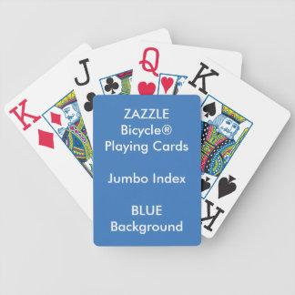 Baralho Para Truco Cartões de jogo enormes feitos sob encomenda AZUIS