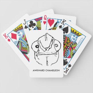 Baralho Para Truco Cartões de jogo inábeis do camaleão da cara de