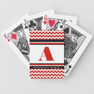 Baralho Para Truco Cartões de jogo personalizados Chevron vermelhos