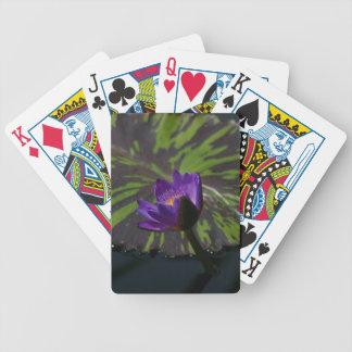 Baralho Para Truco Cartões de jogo roxos de Lotus Waterlily