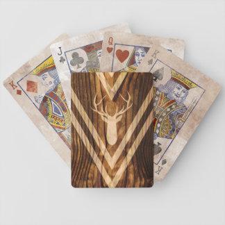 Baralho Para Truco Cervos de Boho na madeira rústica