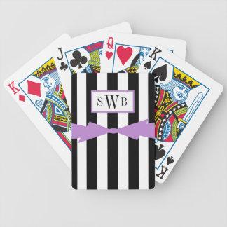 BARALHO PARA TRUCO CHIQUE QUE JOGA CARDS_BLACK/WHITE STRIPES/LAVANDER
