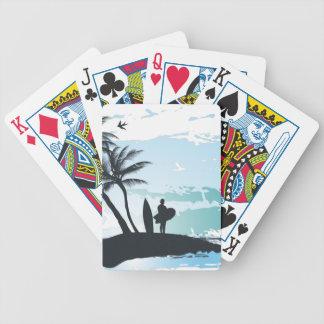 Baralho Para Truco Fundo do surfista do verão da palma