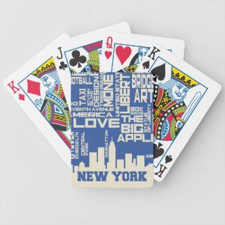 Baralho Para Truco Poster da tipografia da Nova Iorque