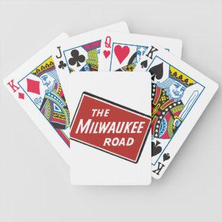 Baralho Para Truco Sinal Railway 2 da estrada de Milwaukee