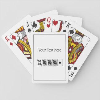 Baralho Pás reais do resplendor reto do póquer da noite do