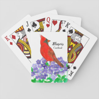Baralho Pássaro de estado de violetas do cardeal de