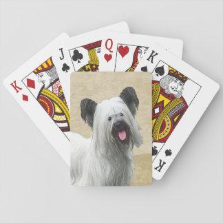 Baralho Pintura de Skye Terrier - arte original bonito do