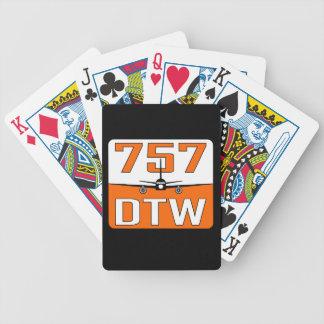 Baralho Plataforma de 757 DTW de cartões de jogo