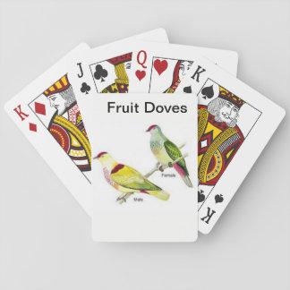 Baralho Plataforma de cartão do jogo com um par de pombas