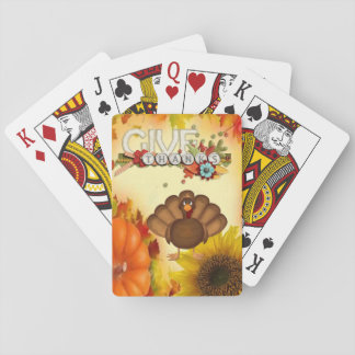 Baralho Plataforma de cartão do jogo da acção de graças