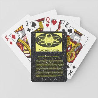 Baralho Plataforma de cartão do jogo da ciência