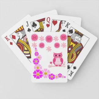 Baralho Plataforma de cartão do jogo da coruja