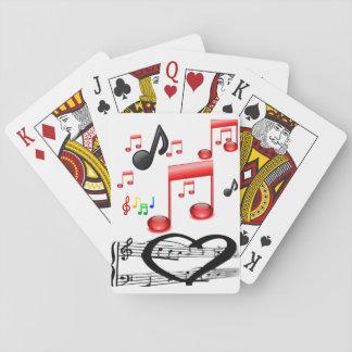Baralho Plataforma de cartão do jogo da música