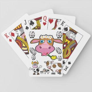 Baralho Plataforma de cartão do jogo da vaca